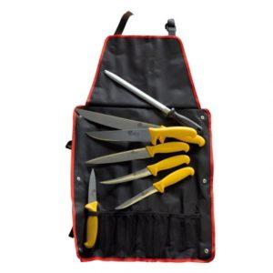 sac couteaux avec tablier et fusil