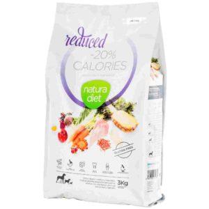 Natura diet Reduced -20% Calories : Aliment complet naturel pour aider les chiens à perdre du poids