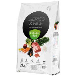 Natura diet Iberico & Rice : aliment complet naturel pour chiens