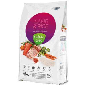 Natura diet Lamb & Rice : aliment complet naturel pour chiens adultes